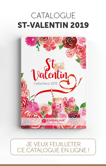 Catalogue Embaline pour les packagings de Saint-Valentin 2019 à destination de Chocolatiers/Confiseurs exigeants