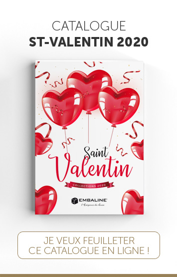 Catalogue Embaline pour les packagings de Saint-Valentin 2020 à destination de Chocolatiers/Confiseurs exigeants